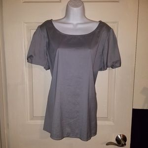 Stunning Massimo Stretch Gray Blouse